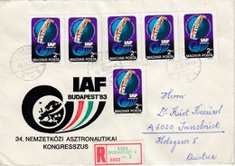 UNGARN 1983 - MiNr: 3643 6x   Auf Rekobrief - Europa