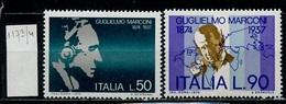 Italie - Italy - Italien 1974 Y&T N°1173 à 1174 - Michel N°1438 à 1439 *** - G Marconi - 1946-.. République