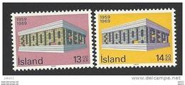 Island, 1969, Mi.-Nr. 428-429, Postfrisch ** - 1944-... Republique