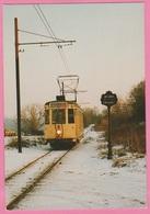 CP - TRAMWAY - SNCV - Ligne Anderlues - Maurage - Motrice Type S 9045 à Carnières En 1982. - Tramways