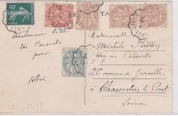 CP - COMPOS. - AMB. MARSEILLE A LYON 1936 - Marcophilie (Lettres)