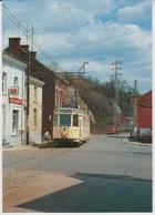 CP - TRAM - SNCV Ligne 90 Charleroi-Binche -La Louvière - Motrice Type S 9075 à St-Vaast. - Tramways