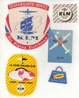 AVIATION : PAYS-BAS . KLM . - Étiquettes à Bagages