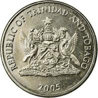 Monnaie, TRINIDAD & TOBAGO, 25 Cents, 2005, Franklin Mint, TTB, Copper-nickel - Trinité & Tobago