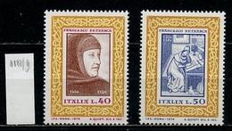 Italie - Italy - Italien 1974 Y&T N°1188 à 1189 - Michel N°1455 à 1456 *** - Pétrarque - 6. 1946-.. Republik