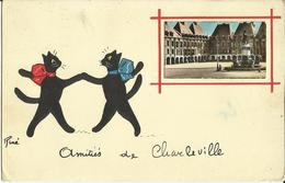 Amitiés De Charleville.    (2 Scans) - Charleville