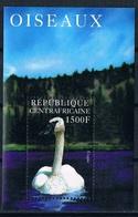 Bloc Sheet Oiseaux Cygnes Birds Swans Neuf MNH **  Republique Centrafricaine Central Africa 2001 - Cygnes