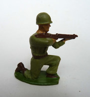 SOLDAT FIGURINE FIG STARLUX ARMEE MODERNE TIREUR FUSIL A GENOUX 1955 SR MC - Starlux