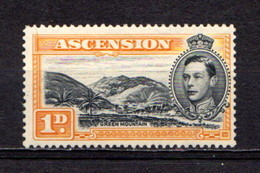 ASCENSION    1938    1d  Black  And  Yellow  Orange    Perf 13 1/2    MNH - Ascension