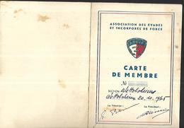 , Colmar (Alsace) Carte De Membre  Pour Les Incorporés De Force Et Les Evadés - Ohne Zuordnung