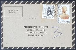 1985, Cyprus, Medicine Digest, Carte Response, Limassol - London - Brieven En Documenten