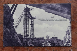 CASTELLANE (04) - INSTALLATION DU CHANTIER DE CONSTRUCTION DU BARRAGE - Castellane