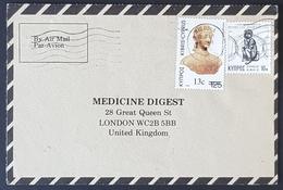 1984, Cyprus, Medicine Digest, Carte Response, Nicosia - London - Brieven En Documenten