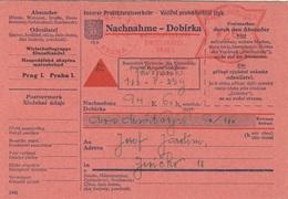 BÖHMEN Und MÄHREN 1942 - 260 H Aufdruck Auf NACHNAHME - DOBIRKA Karte, Gel.Prag - Jericko - Böhmen Und Mähren