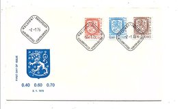 FINLANDE FDC 1975 SERIE COURANTE - Finlande
