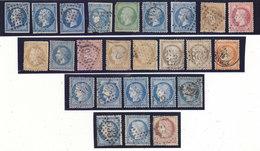 TRES BON LOT DE 74 TIMBRES OBLIT. AVANT 1900.N.DENTELES ET DENTELES.VARIANTES ET CACHETS.B.ETAT GENERAL.BELLE COTE - Collections (en Albums)