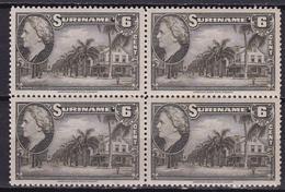 Suriname 1945 Koningin Wilhelmina 6 Cent Olijf Paramaribol NVPH 227 In Postfris Blokje - Suriname ... - 1975