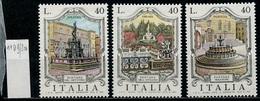 Italie - Italy - Italien 1974 Y&T N°1199 à 1201 - Michel N°1469 à 1471 *** - Fontaines D'Italie - 6. 1946-.. Republik