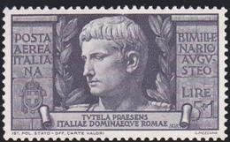 Italia Regno: AUGUSTO 1937, POSTA AEREA £.5,0+£.1,0 NON USATO Senza Colla.A - Mint/hinged