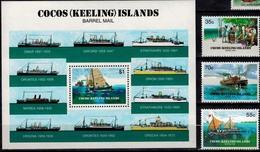 MVS-BK1-681-2-3 MINT ¤ COCOS ISLANDS COMPL. SET ¤ MARITIEM - VOILIERS - ZEILSCHEPEN - SHIPS - Maritiem