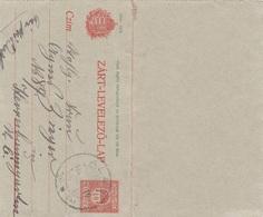 UNGARN 1916 - 10 Filler Ganzsache Auf Kartenbrief Gel.v. Alag - Herrnbaumgarten - Ungarn