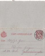 UNGARN 1911? - 10 Filler Ganzsache Auf Kartenbrief Gel.v. Budapest - Herrnbaumgarten - Briefe U. Dokumente
