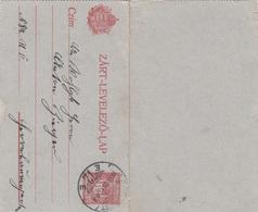 UNGARN 1911? - 10 Filler Ganzsache Auf Kartenbrief Gel.v. Budapest - Herrnbaumgarten - Ungarn