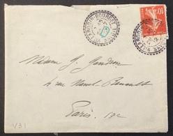 V31 Villarodin-Bourget Savoie TIRETÉ 28/7/1912 Semeuse 10c - Postmark Collection (Covers)