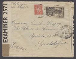 FRANCE - XX. 1942 (8 May). Orcalquien / Basse Alpes - Mexico / Guadalajara (31 Mayo). US Clipper Via Lisbon 21fr Rate Fr - France