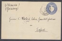 ECUADOR. 1904 (8 July). Quito - Germany (12 Aug). 3c Blue Stat Env. Fine Used. - Ecuador