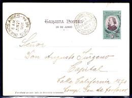 Argentina - Stationery. 1901 (26 Junio). Local Usage (27 June). 2c Ilustr Acorazado Belgrano Compañía Grl De Fosforos. - Argentinien