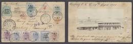 BC - Orange River. 1901 (30 Sept). Winburg - Germany (5 Nov). Reg VRI 1/2d Ovptd Green Stat Card + 9 Adtls Stamps Censor - Ohne Zuordnung