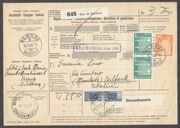 Switzerland - XX. 1962 (10 Oct). Bern - Italy / Mantova / Belforte. Reg Multifkd Postal Package Italian Pdues. 100 Lire - Schweiz