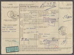 PORTUGAL-INHAMBANE. 1968 (23 Dec). Inhambane - Sweden (21 Feb) 1969). Package Postal Receipt Cash Paid Swedish 300 Ore P - Portugal