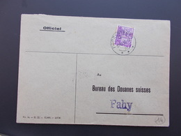 TIMBRE SUISSE PERFORE SUR ENVELOPPE PLIEE.PEU COURANT.CACHET BERCHER.1941. - Unclassified