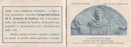 Calendarietto Tascabile La Voce Di S.antonio 1961 - Calendars