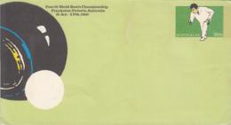 SPORTS, BOWLING, WORLD  BOWLS CHAMPIONSHIP, COVER STATIONERY, ENTIER POSTAL, 1980, AUSTRALIA - Bowls