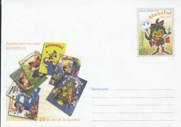 CHILDRENS, ALUNELUL MAGAZINE, CARTOONS, COVER STATIONERY, ENTIER POSTAL, 2007, MOLDOVA - Autres