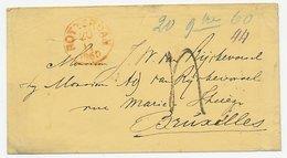 Rotterdam - Brussel Belgie 1860 - Grensstempel - Niederlande