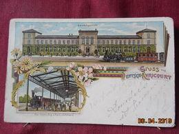 CPA - Avricourt-Allemand - Bahnhofsgebaüde / Der Franz.Zug V.Paris Einfahrend - Altri Comuni