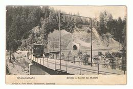 INNSBRUCK:  STUBAITALBAHN  -  BRUCKE  U.  TUNNEL  BEI  MUTTERS  -  PHOTO  -  KLEINFORMAT - Eisenbahnen