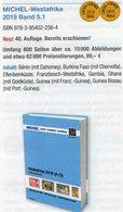 West-Africa Teil 5/1 A-G MICHEL 2019 New 89€ Catalogue With Benin Burkina Faso Elfenbeinküste Gambia Ghana Guinea-B - Philatélie