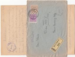 ÖSTERREICH RECO-BRIEF 1945 - 12 + 30 Gro + Militär-Zensur 3500 Auf Brief Mit Inhalt Gel.v.Ried Im Innkreis - Wien XVIII - 1918-1945 1. Republik