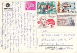 TENERIFE SPANIEN 1978? - 5 Fach Frankierung Auf Ak TENERIFE - Luftpost