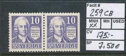 Sweden 1938 Facit # 259CB Emmanuel Swdenborg. MNH (**) - Nuevos