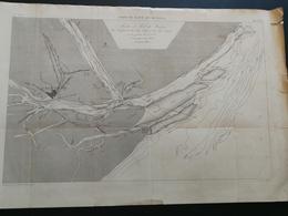 ANNALES PONTS Et CHAUSSEES (Espagne) - Plan Du Port Et Rade De HUELVA - Graveur Macquet 1890 (CLA78) - Carte Nautiche