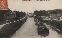 CHELLES - LE CANAL - VUE PRISE DU PONT - Chelles