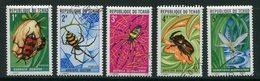 TCHAD- Y&T N°245 à 249- Oblitérés (insectes) - Tchad (1960-...)