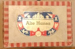 ALTE HANSA SHIPPMENT-SHIPS AT SEA, SAILORS-,OLD  CIGARS BOX,EMPTY - Contenitore Di Sigari