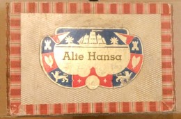 ALTE HANSA SHIPPMENT-SHIPS AT SEA, SAILORS-,OLD  CIGARS BOX,EMPTY - Sigarenkokers